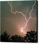 Lightning Strike Canvas Print by Kristina Chapman