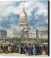Lincoln Inauguration, 1865 Canvas Print by Granger