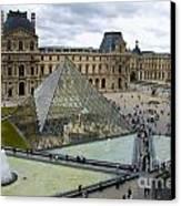 Louvre Museum. Paris Canvas Print by Bernard Jaubert