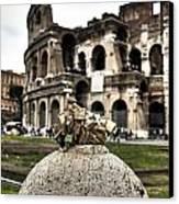 love locks in Rome Canvas Print by Joana Kruse