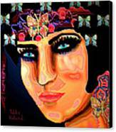 Madame Butterfly Canvas Print by Natalie Holland