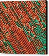 Microchip Circuitry, Sem Canvas Print by Power And Syred