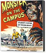 Monster On The Campus, Arthur Franz Canvas Print by Everett