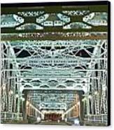 Nashville By Night Bridge 2 Canvas Print by Douglas Barnett