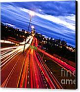 Night Traffic Canvas Print by Elena Elisseeva