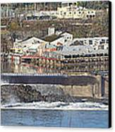 Old Industrial Complex Panorama Oregon City Or. Canvas Print by Gino Rigucci