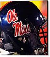 Ole Miss Football Helmet Canvas Print by University of Mississippi