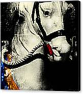 Portrait Of A Carousel Pony Canvas Print by Colleen Kammerer