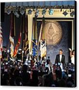 President And Michelle Obama Arrive Canvas Print by Everett