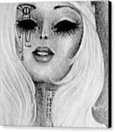 Queen Machina Canvas Print by Melissa Cabigao