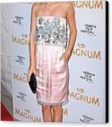 Rachel Bilson Wearing A Chanel Couture Canvas Print by Everett