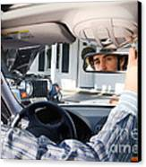 Rear-view Mirror Canvas Print by Photo Researchers