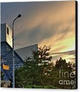 Rock And Roll Hall Of Fame Canvas Print by David Bearden