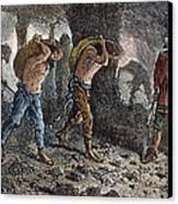 Roman Slavery: Coal Mine Canvas Print by Granger