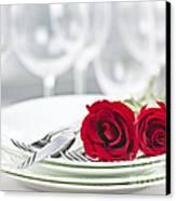 Romantic Dinner Setting Canvas Print by Elena Elisseeva