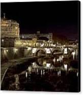 Rome Ponte San Angelo Canvas Print by Joana Kruse
