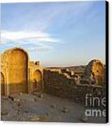 Ruins Of Shivta Byzantine Church Canvas Print by Nir Ben-Yosef