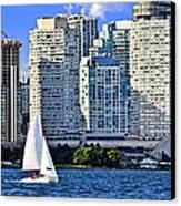 Sailing In Toronto Harbor Canvas Print by Elena Elisseeva