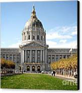 San Francisco City Hall - Beaux Arts At Its Best Canvas Print by Christine Till