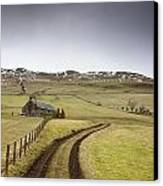 Scottish Borders, Scotland Tire Tracks Canvas Print by John Short