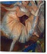 Seated Dancer Canvas Print by Edgar Degas