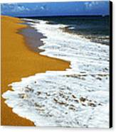 Shoreline Along Pinones Canvas Print by Thomas R Fletcher