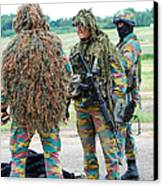 Soldiers Of The Special Forces Group Canvas Print by Luc De Jaeger