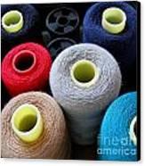 Spools Of Yarn Canvas Print by Yali Shi