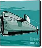Submarine Boat Retro Canvas Print by Aloysius Patrimonio