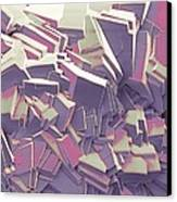 Sucrose Crystals, Sem Canvas Print by Steve Gschmeissner