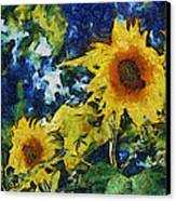 Sunflowers Canvas Print by Michelle Calkins