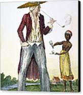 Surinam: Slave Owner, 1796 Canvas Print by Granger