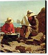 The Boat Builders Canvas Print by Winslow Homer