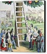 The Ladder Of Fortune Canvas Print by Currier and Ives