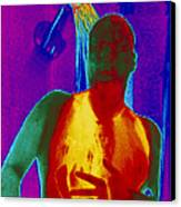 Thermogram Of A Man Taking A Shower Canvas Print by Dr. Arthur Tucker