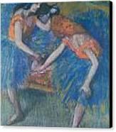 Two Dancers Canvas Print by Edgar Degas