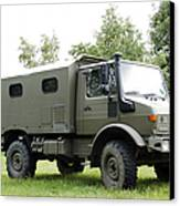 Unimog Truck Of The Belgian Army Canvas Print by Luc De Jaeger