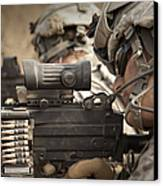 U.s. Army Rangers In Afghanistan Combat Canvas Print by Tom Weber