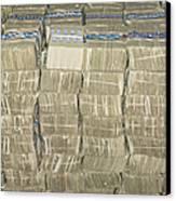 Us Cash Bundles Canvas Print by Adam Crowley