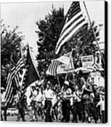 Us Civil Rights. Demonstrators Canvas Print by Everett
