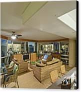 Usa Hi Honolulu Upscale Living Room Canvas Print by Rob Tilley