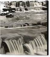 Waterfalls With Fresh Snow Thunder Bay Canvas Print by Susan Dykstra