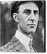 Wilbur Wright, Us Aviation Pioneer Canvas Print by Science, Industry & Business Librarynew York Public Library