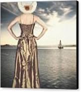 Woman At The Lake Canvas Print by Joana Kruse
