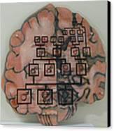 Your Brain On Alzheimer's Canvas Print by Art Nomad Sandra  Hansen