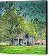 1209-1298 - Boxley Valley Barn 2 Canvas Print by Randy Forrester