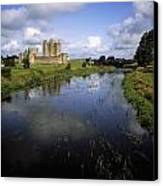 12th Century Trim Castle, On The River Canvas Print by The Irish Image Collection