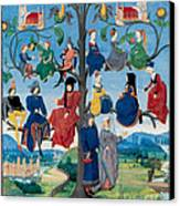 15th-century Family Tree Canvas Print by Photo Researchers