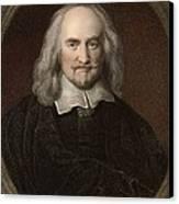 1660 Thomas Hobbes English Philosopher Canvas Print by Paul D Stewart