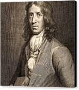 1698 William Dampier Pirate Naturalist Canvas Print by Paul D Stewart